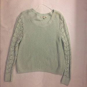 Lauren Conrad Lace Knit Crochet Sweater